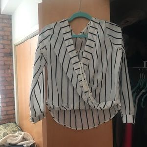 B&W striped SheIn Blouse